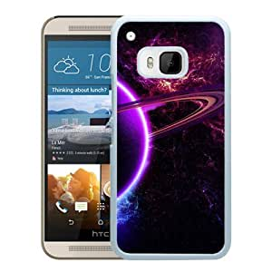 New Custom Designed Cover Case For HTC ONE M9 With Purple Cosmos Fantasy Mobile Wallpaper (2) Phone Case