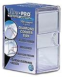 Ultra Pro Diamond Corners 100 Count Clear Card Storage Box