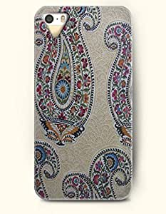OOFIT Apple iPhone 5 5S Case Paisley Pattern ( Vintage Paisley in Pale Golden Rod Backgroung )