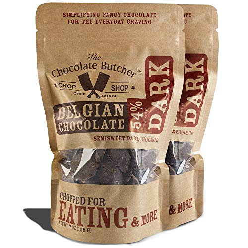 Dark Chocolate 54% Cocoa Content - Chopped for Snacking or Melting (Best Way To Melt Chocolate For Dipping)