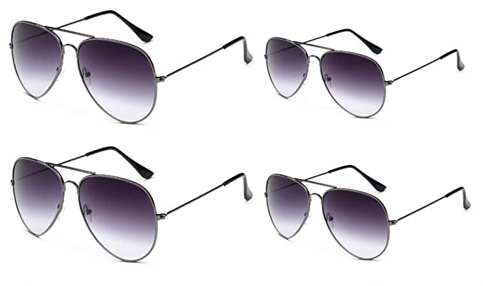 47670bc9d5 Amazon.com  WODISON Vintage Adult Sunglasses Classic Kids Aviator  Eyeglasses Bulk Metal Frame Eyewear Glasses 4 Packs  Clothing