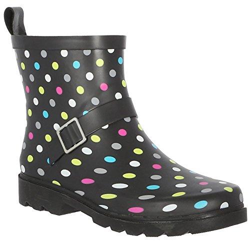 Printed Boot New Multi Ladies York Black Umbrella Capelli Short Rain d60Iw0qz
