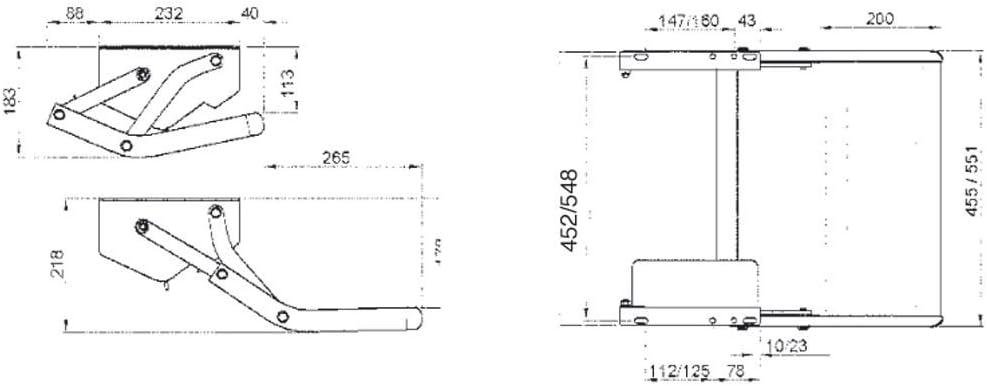 Thule Marchepied /électrique Omni-Step 12V Largeur de Marche 455 mm