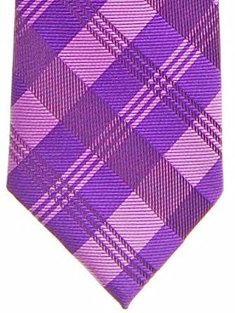 Tartan Plaid Patterns Woven Microfiber Pre-tied Boys Tie Various Colors