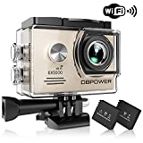 DBPOWER EX5000 Action Camera , 14MP 1080P HD WiFi Waterproof Sports Cam 2 Inch LCD Screen , 170 Degree Wide Angle Lens , 98ft Underwater DV Camcorder With 16 Accessories Kits Review