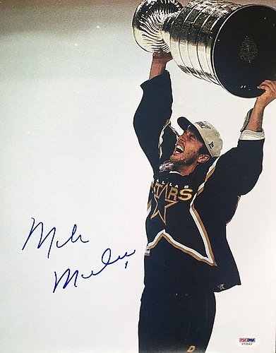 Autographed Signed Mike Modano Dallas Stars Stanley Cup 11x14 Photo - PSA/DNA Authenticated - Signed Hockey Photos - NHL Gifts