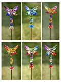 5 Tone Crystal Quality Acrylic Butterfly Garden Stake 54'' Tall (6 Assorted)