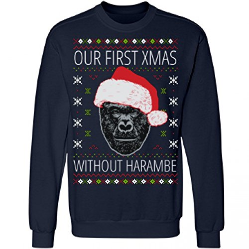 FreshRags Harambe Loved Christmas Ugly Sweater Funny Men's