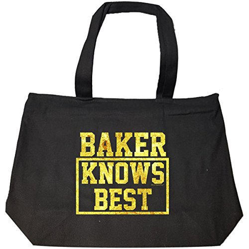 Baker Knows Best. Cool Gift Idea For Friends – Tote Bag With Zip