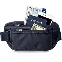 [Bauchtasche] FREETOO Gürteltasche mit RFID-Blockierung Hüfttasche mit rutschfestem Reißverschluss und elastischem Gürtel wasserabweisender Geldgürtel für Damen und Herren auf Reise und Sport anwerden