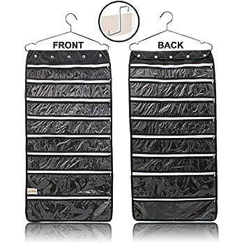 Amazon Com Premium Hanging Jewelry Organizer 44 Secure