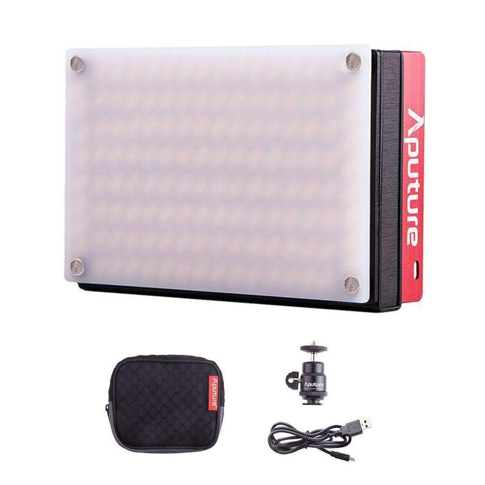 Aputure Amaran AL-MX LED Video Light 128 SMD LED Bi-Color On-Camera Video Light, TLCI/CRI 95+, 2800-6500K Adjustable, 3200lux@0.3m Booster Mode with Built in Battery by Aputure (Image #1)