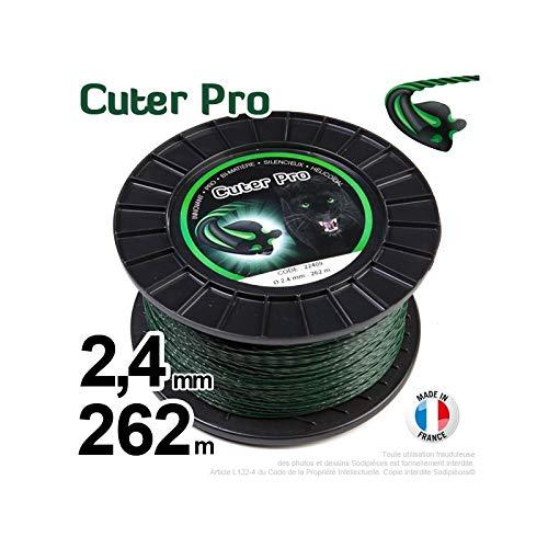 Hilo Desbrozadora Nylon cuter Pro Hélicoïdal 2,4 mm par 262 M en ...