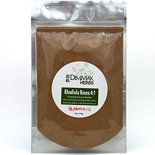 Cheap Rhodiola Rosea Powder Extract 4:1 4 Ounce | Hong Jing Tian Concentrate | Lab Tested Extract Powder 112 Gram Resealable Bag