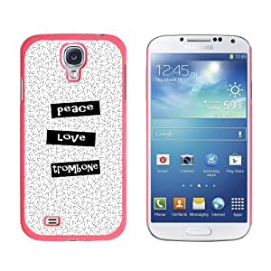 Peace Love Trombone - Snap On Hard Protective Case for Samsung Galaxy S4 - Pink by icecream design