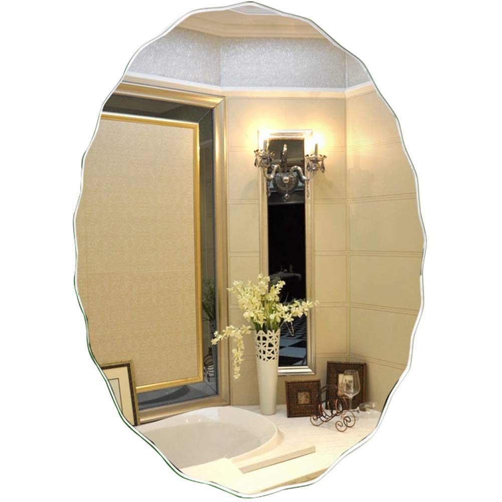 4560cm Mirror, Oval Bathroom Mirror, Borderless Vanity Mirror, Wall Mirror, 45  60 cm   50  70 cm