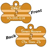 Disney Chip and Dale Double Sided Pet Id Tag for Dogs & Cats Personalized with 4 Lines of Text (Dale)