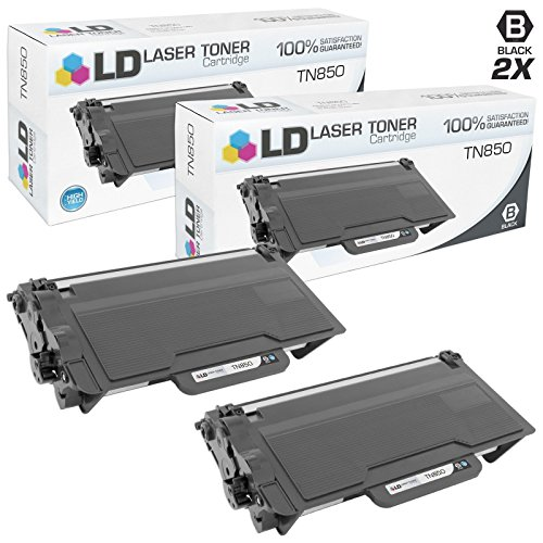 LD © Compatible Brother TN850 Set of 2 High Yield Black Toner Cartridges for Brother DCP, HL, and MFC Multifunction Printers