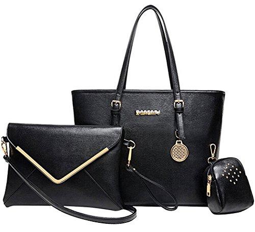 Coofit Vintage Damen Leder Hobos and Schultertasche mit Crossbody Messenger Bags und kleinen Geldbeutel