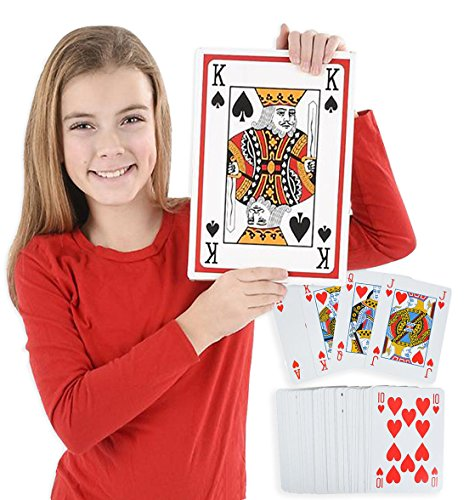 Jumbo Poker Cards, Large poker Cards, Card Playing Games, 11.5'' – 8.5'' By 4E's (Big Game Poker)