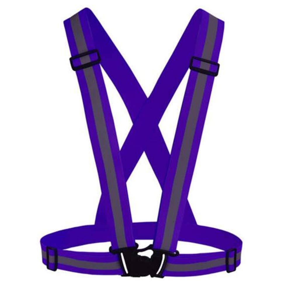 Adjustable Reflective Vest,High Visibility Vest,Reflective Running Gear Safety Vest Waist Belt Stripes Jacket for Outdoor Sports Duolala