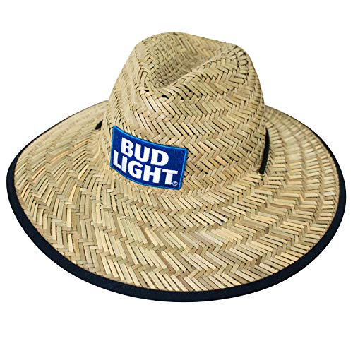 Bud Light Beer Straw Life Guard Hat (Straw Beer)