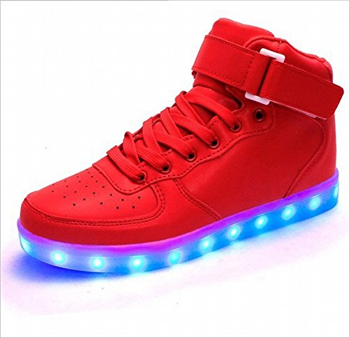 rojo Zapatos Usb Oro Ayuda EUR36 Pares de 5 Femeninos Led Alta wYq8On0