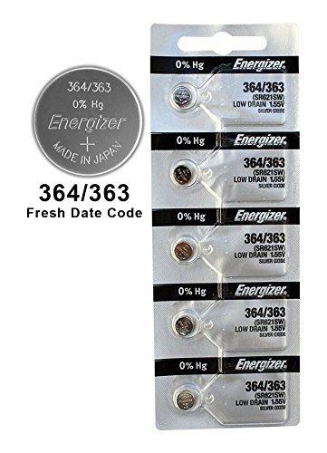 50X Energizer 364/363 Battery Silver Oxide Button Multi-Drain 1.55V SR621SW