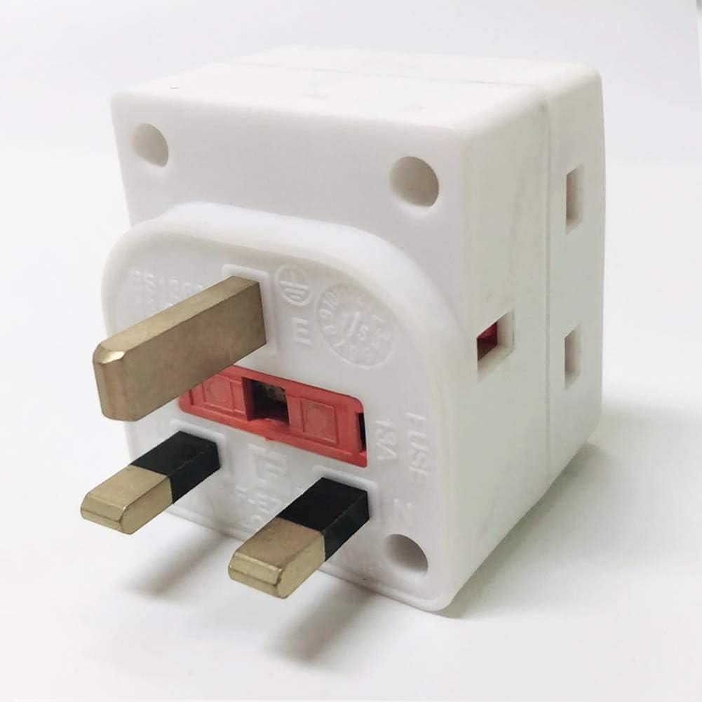 3 Broches Socket Splitter Extension UK Plug, Extrastar 3 Voie Bloc Adaptateur secteur