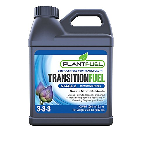 Hydroponic Soil - Plant Fuel Nutrients | TRANSITION FUEL | Liquid Fertilizer for Soil, Hydroponic and Other Grow Mediums. Formulated for the Transition between Vegetative and Bloom stages of your plant (Quart)