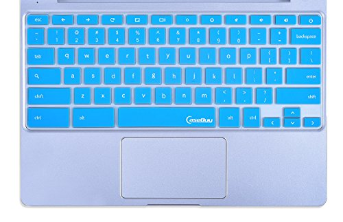 Samsung-Chromebook-Keyboard-Cover-Protector-Skin-for-Samsung-ARM-116-Chromebook-2-XE500C12-Chromebook-3-XE500C13-116-inch-Chromebook-by-CaseBuy-Blue