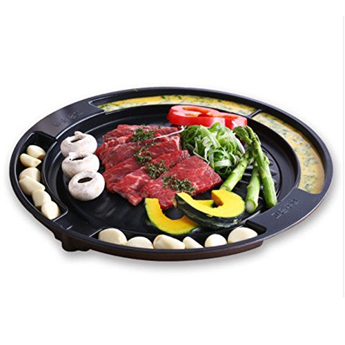 Queen Sense Korean BBQ Grill Pan Square Type Stovetop Camping Food Cooker Tool from PONML