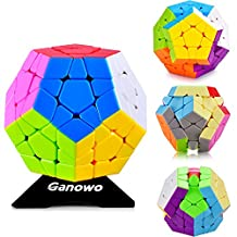 Megaminx 3x3x3 Professor Master Kilominx Gigaminx Speed Cube Puzzle Smooth Stickerless 12 Colors Dodecahedron Cube toys Game Christmas Gift for Kids