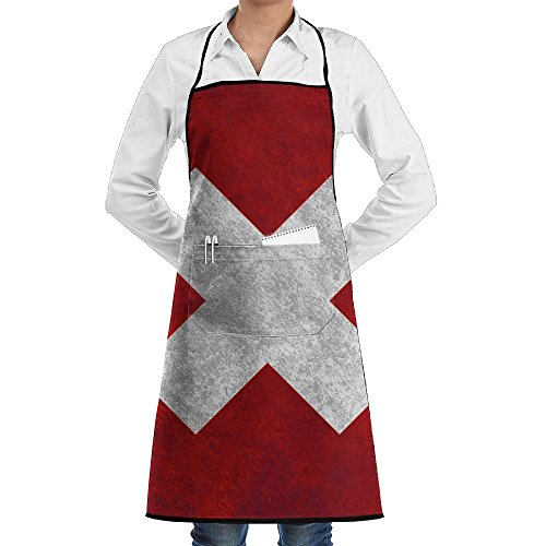 SuFuncc Switzerland Flag Group Kitchen Apron Cooking Aprons Chef Aprons Adjustable With Pocket Long Ties For Cooking, Baking, Gardening, Crafting, BBQ For - Shopping In Switzerland Online