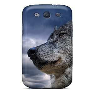 For Case Samsung Note 4 Cover Bumper PC Skin Cover For Wolf Accessories