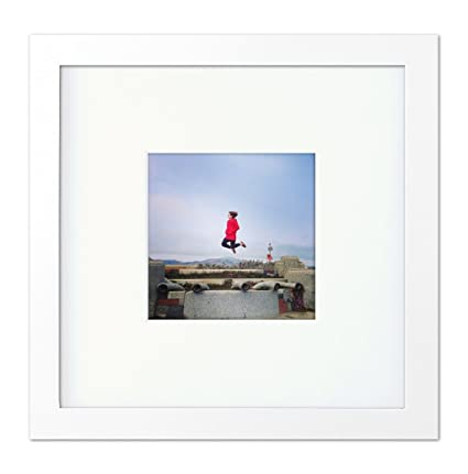 Tiny Mighty Frames - Wood, Square, Instagram, Photo Frame, 4x4 (Mat), 8x8 (1, White)