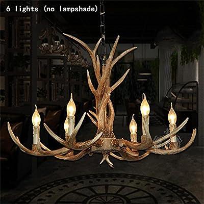 TOYM US- European industrial chandelier American country living room chandelier restaurant bar club retro chandelier six antler chandelier