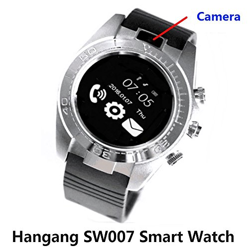 Hangang Touch Screen Clock phone Smart Watch Bluetooth Sport Smartwatch Men Hands-free telephone Android IOS Camera Wearable Sim TF card ios Smartwatch