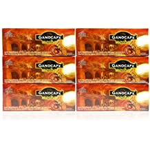 6 Boxes Gano Cafe Mocha 89 oz./ 90 sachets (Coffee & Cocoa and Enriched with Ganoderma Lucidum extract )