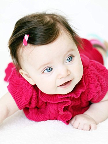 Baby Wisp 12 Mini Hair Clips Patterned Ribbon Baby Girls Infant Fine Hair Accessory Collection by Baby Wisp (Image #5)