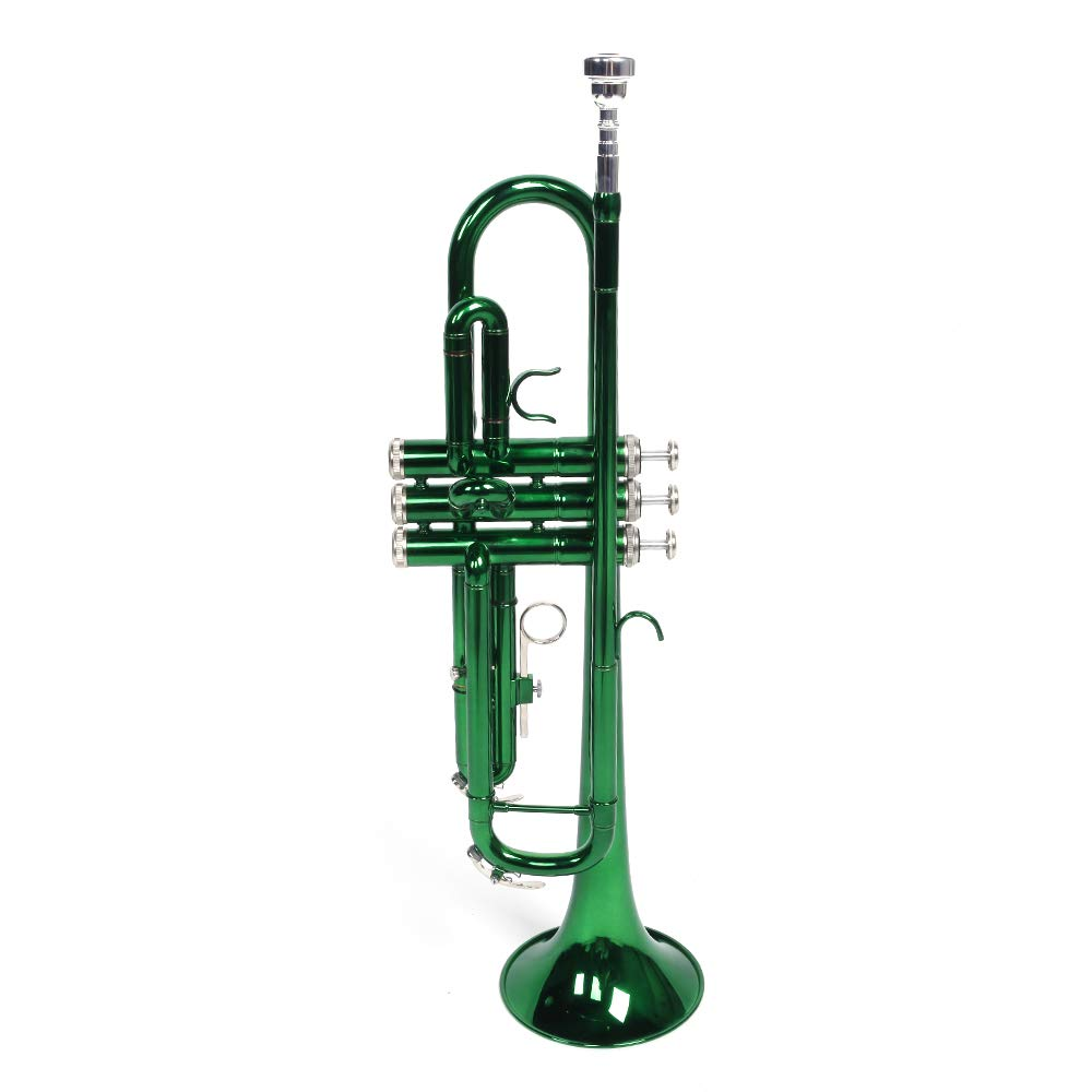 Aguoxing Brass B Flat Trumpet Set with Gloves Case for Students Beginners