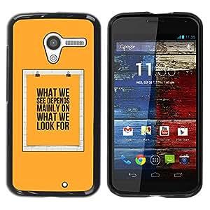 Paccase / SLIM PC / Aliminium Casa Carcasa Funda Case Cover para - Yellow Text Poster Meaning - Motorola Moto X 1 1st GEN I XT1058 XT1053 XT1052 XT1056 XT1060 XT1055