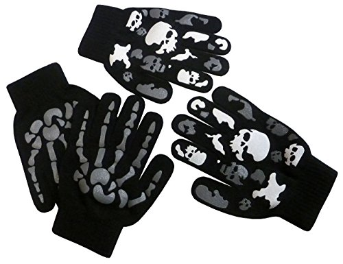 N'Ice Caps Boys Magic Stretch Glove 2 Pair Pack Assortment (6-12yrs, (6 Pair Pack Grey Accessories)
