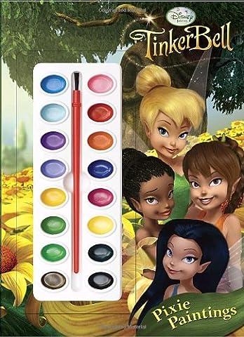 Pixie Paintings (Disney Fairies) (Deluxe Paint Box Book) (The Pixies Deluxe)