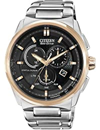 Citizen #BL5486-57E Men's Eco Drive Two Tone Rose Stainless Steel Perpetual Calendar Chronograph Watch