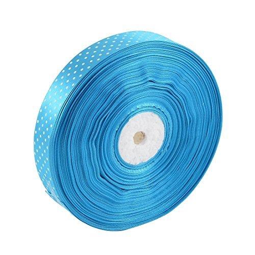 eDealMax Dot Stampato in poliestere nastro del Raso del rullo Regalo FAI da te pacchetto del mestiere blu