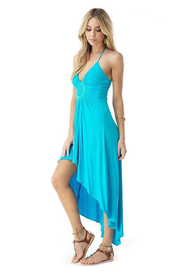 42d3e511288 Sky Women's QIAO High Low Dress, Caribbean Blue at Amazon Women's Clothing  store: