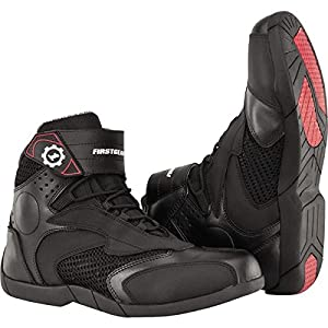 Firstgear Mesh Lo Men's Motorcycle Boots (Black, Size 10)