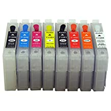 InkOwl® - Empty Refillable Cartridge Set for use in EPSON Stylus Photo R2000 printers (T1590-T1599) #159 ink