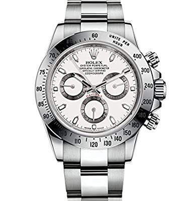 Rolex Cosmograph Daytona Stainless Steel Watch 116520 White Dial by Rolex